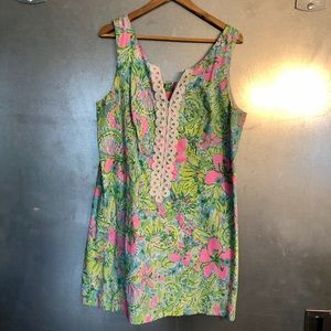 Green and Pink Lilly Pulitzer Dress Size 16
